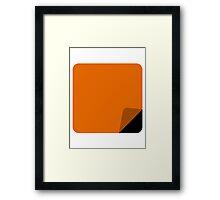 Orange is the New Black Design Framed Print