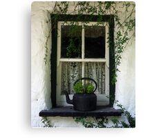 Cottage Window: Bunratty, Ireland Canvas Print