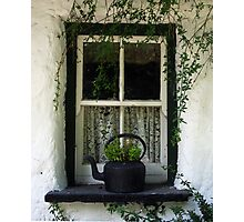 Cottage Window: Bunratty, Ireland Photographic Print