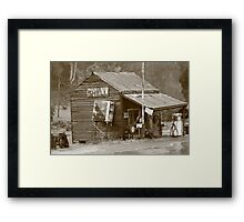 History at woods point. Framed Print