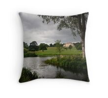 View of Cusworth Hall from the lake Throw Pillow