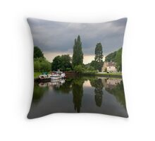 The Boat Inn on the River Don Throw Pillow