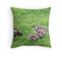 Mother egyptian goose Throw Pillow