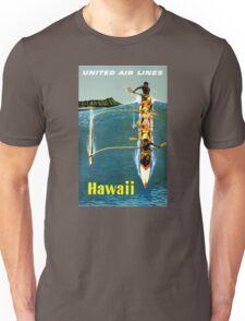 Hawaii Vintage Travel Poster Restored Unisex T-Shirt