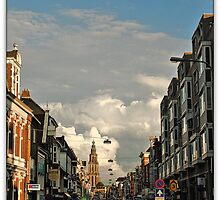 Martinitoren & Nw,ebbingestraat,Groningen stad,the Netherlands,Europe by Aheroy