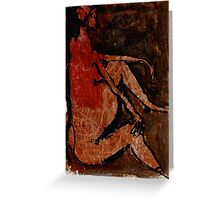 red faced and waiting Greeting Card