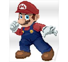 Super Pixel Mario Poster