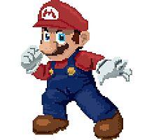 Super Pixel Mario Photographic Print