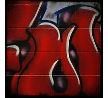 Red Graffiti Detail Photographic Print