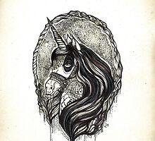 Dark Magic Unicorn by Qurious