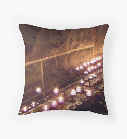 Prayer candles Throw Pillow