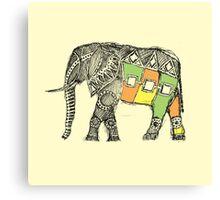 African Elephant Sketch Canvas Print