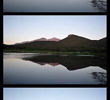 Dawn on Longs Peak by bluefishrun