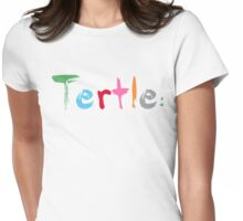 Tertle® Paints  Womens Fitted T-Shirt