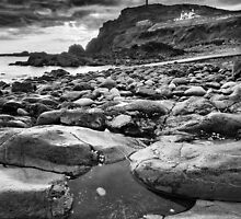 Cornwall - Priest Cove BW by Michael Breitung
