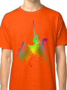 Psychedelic Don Quixote and Sancho Panza Classic T-Shirt
