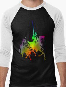 Psychedelic Don Quixote and Sancho Panza Men's Baseball ¾ T-Shirt