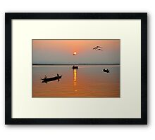 The Golden Morning Framed Print