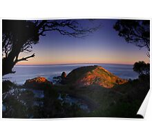 cape at sunset Poster