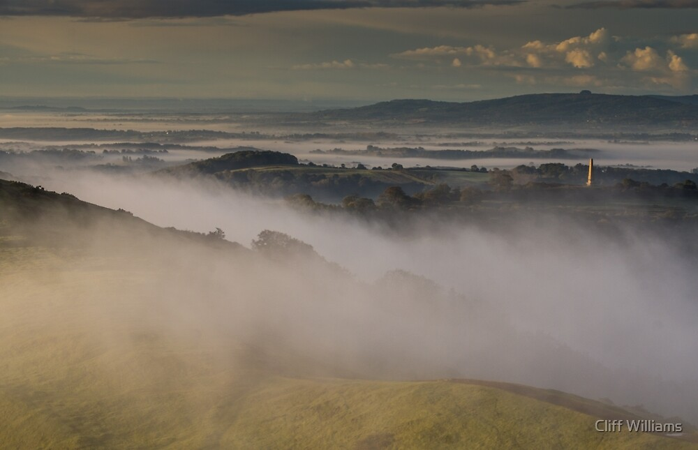 Swirling Mist on Hereford Beacon by Cliff Williams