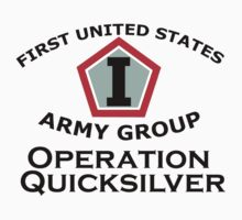 First United States Army Group (FUSAG) - Operation Quicksilver Kids Clothes