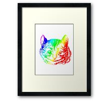 Psychedelic Cheshire Cat Trippy Alice Framed Print