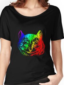 Psychedelic Cheshire Cat Trippy Alice Women's Relaxed Fit T-Shirt