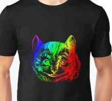 Psychedelic Cheshire Cat Trippy Alice Unisex T-Shirt