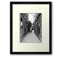 Quiet Alley Framed Print
