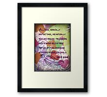Thoughts Detail David Hume Framed Print