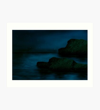 At night..... Art Print