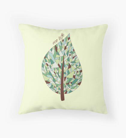 Ecology card design  Throw Pillow
