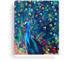 Psychedelic Peacock Canvas Print