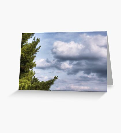 The Trees and Clouds Greeting Card