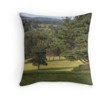 The Lone Golfer Throw Pillow