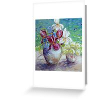 Still life with Gardenflowers Greeting Card