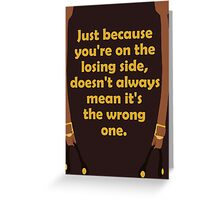 Winners and Losers Greeting Card
