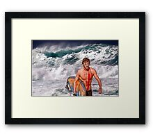 Pipeline Surfer 3 Framed Print