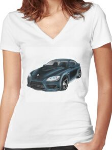 BMW Omar Edition Women's Fitted V-Neck T-Shirt