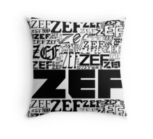ZEFZEFZEF Throw Pillow