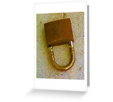 Unlock..... Greeting Card