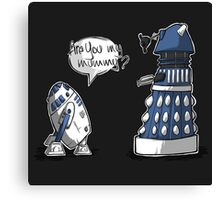 Are you my mummy? - BLUE version Canvas Print