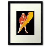 ACDC Angus Young Guitar Framed Print