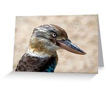 Blue Winged Kookaburra Greeting Card