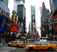 Times Square - early morning by herbiefraser