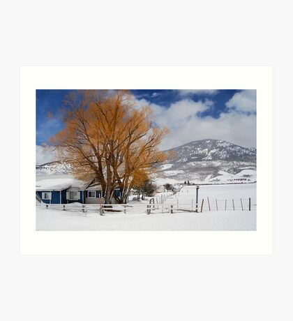 Outstanding in Orange - Snow Scene Art Print