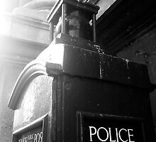 Police Telephone Box, City of London by Clive Gross