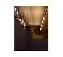 Tunnel stairs Art Print