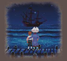 Guybrush & Stan (Monkey Island) One Piece - Short Sleeve