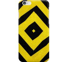 Black and yellow striped pattern iPhone Case/Skin